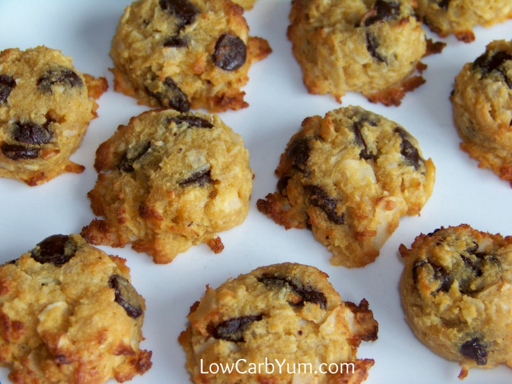 Cookies Made With Coconut Flour And Stevia And Chocolate Chip