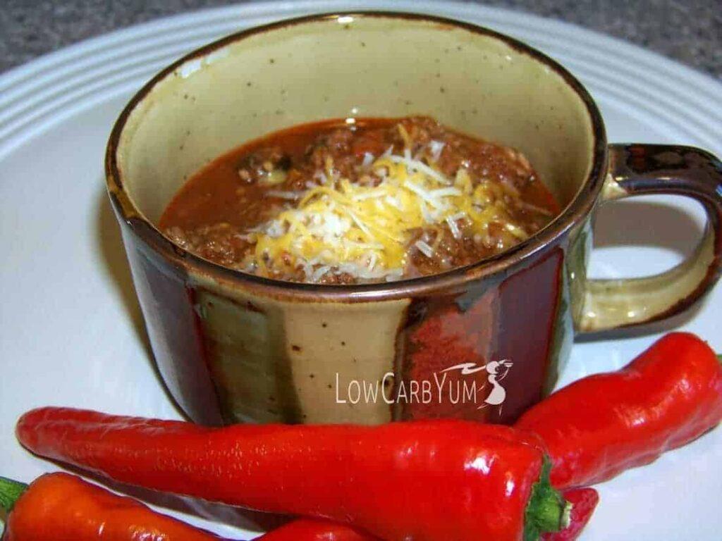 Low carb gluten free no bean chili recipe