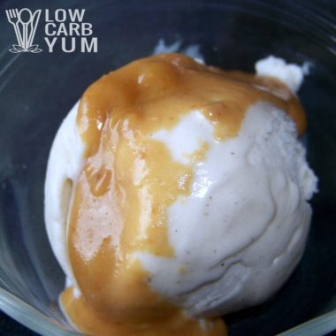 Low Carb Peanut Butter Ice Cream Topping