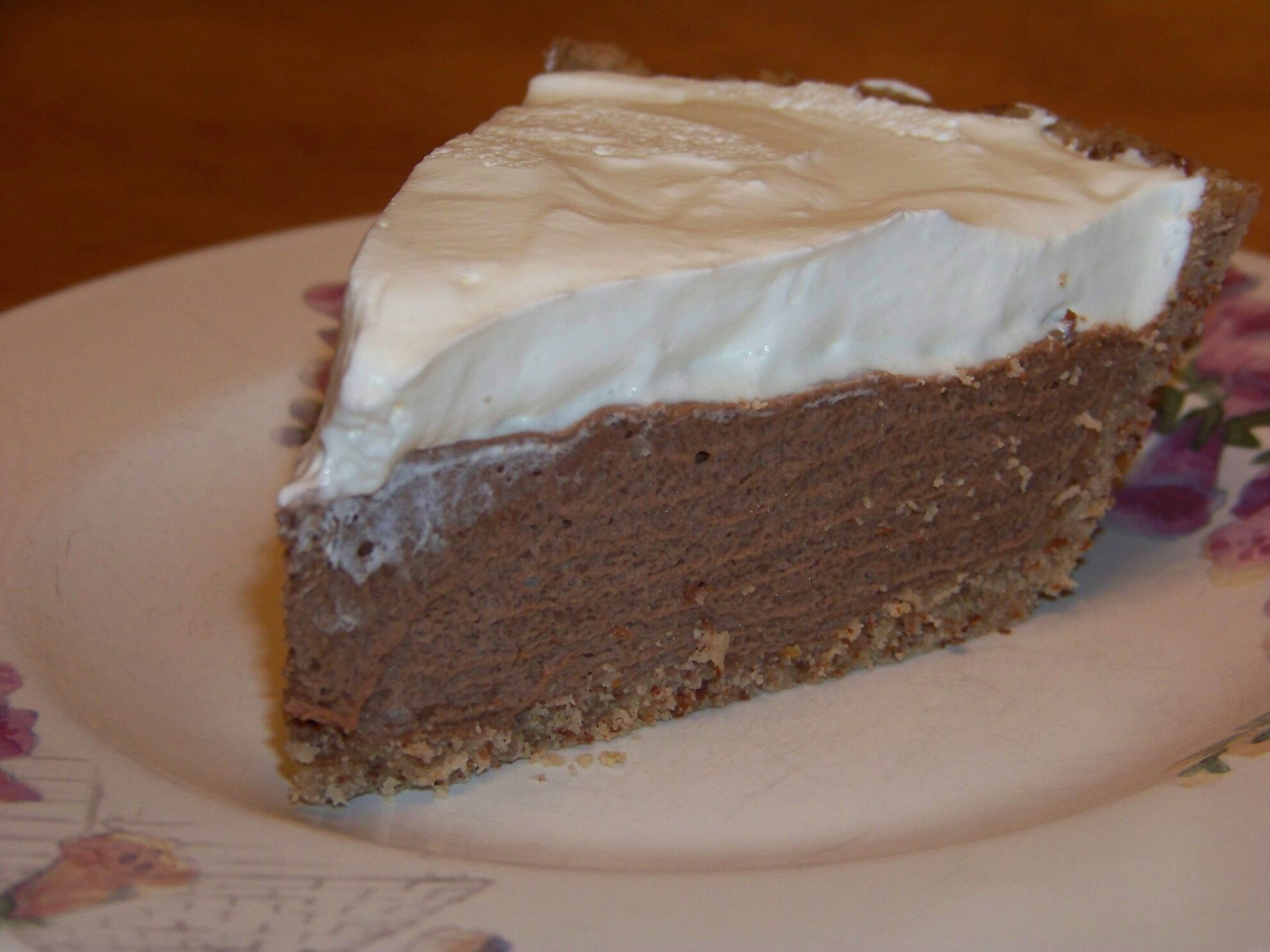Low Carb Chocolate Cream Pie | Low Carb Yum