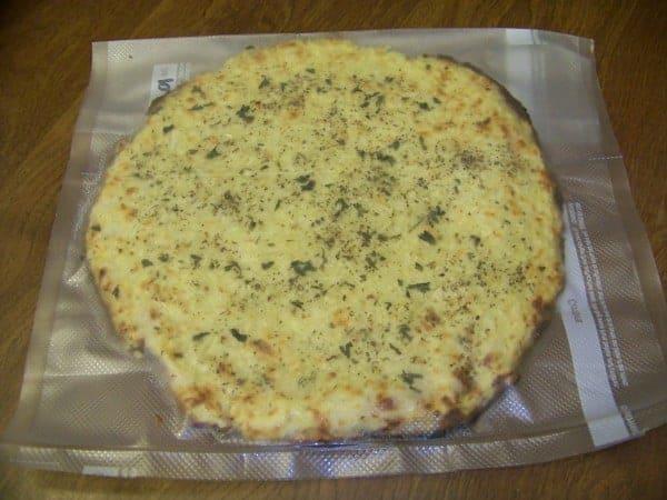 Vacuum Sealed Pizza Crust for Freezing