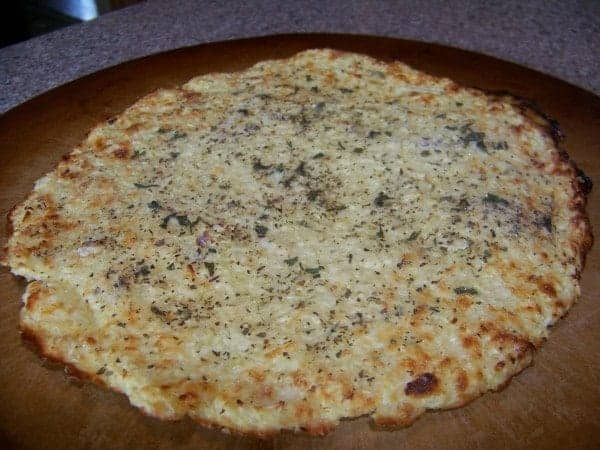 Low Carb Gluten Free Pizza Crust - Made with Cauliflower Rice