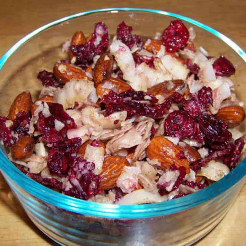 Sweet Coconut Almond Cranberry Trail Mix Recipe