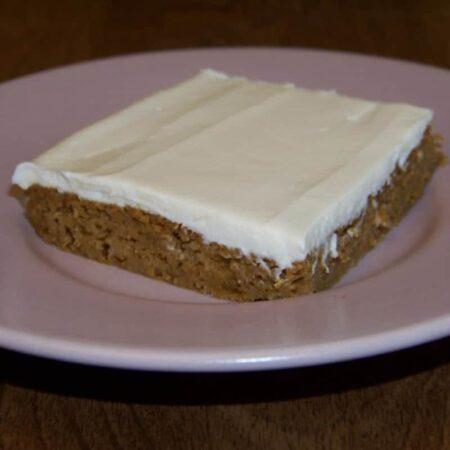 Low Carb Pumpkin Spice Snack Cake Bar