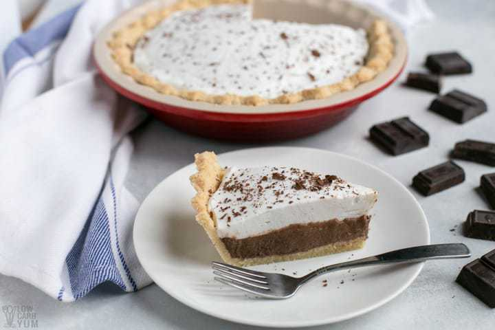 Simple dairy free low carb chocolate pie