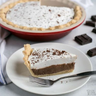 Dairy free low carb chocolate pie