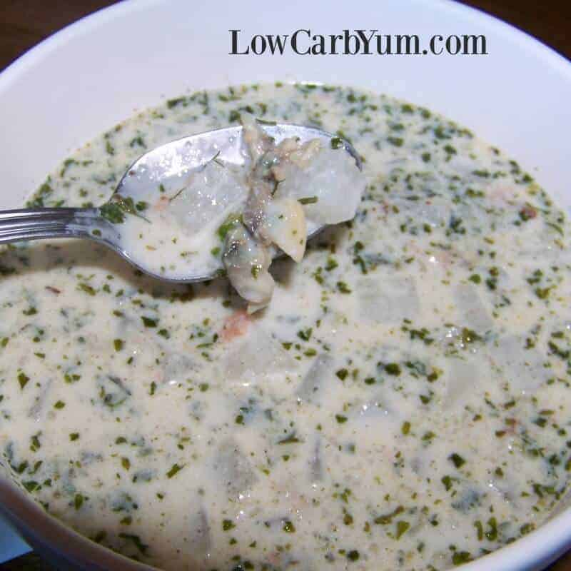 Low carb clam chowder featured image