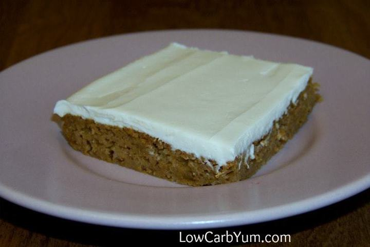 Low carb pumpkin bars featured square