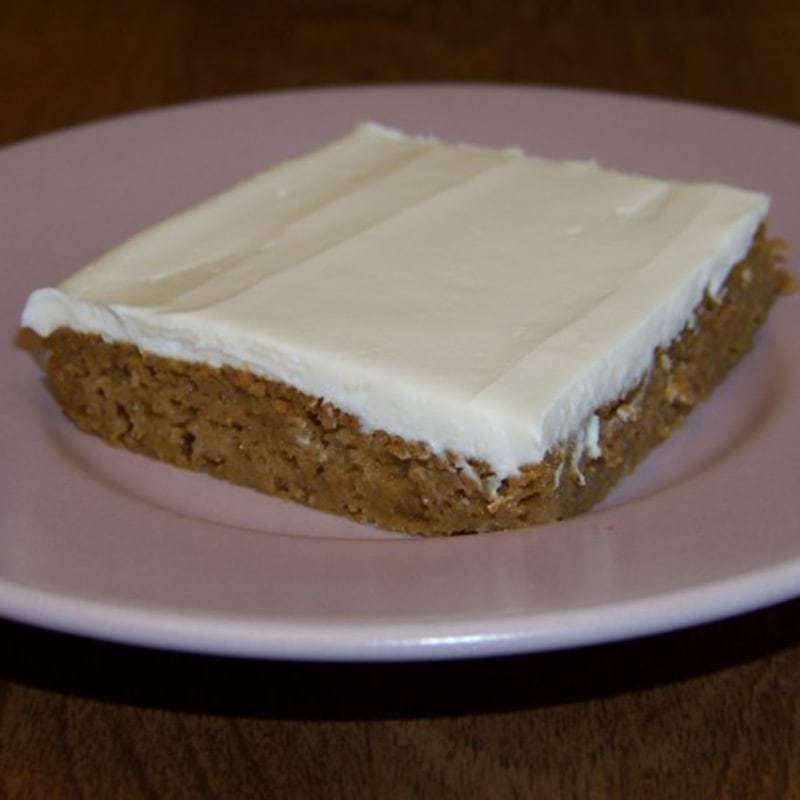 Low carb pumpkin bars square featured