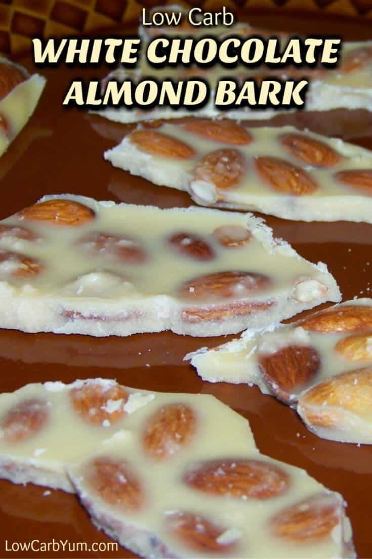 low-carb white chocolate almond bark