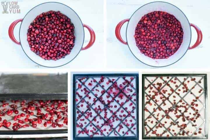 How to make unsweetened sugar free dried cranberries