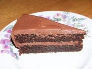 Low Carb Gluten Free Peanut Flour Chocolate Cake
