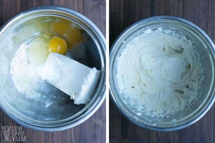 making the cream cheese filling