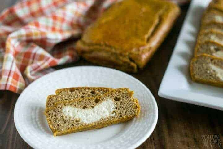 Easy low carb cream cheese pumpkin bread
