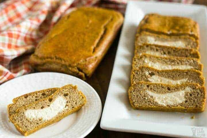 Gluten free low carb cream cheese pumpkin bread