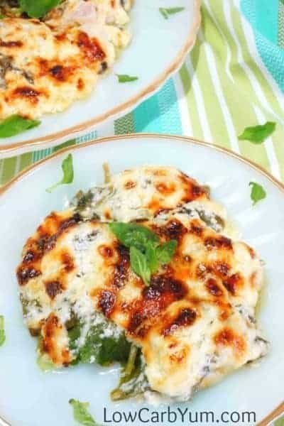 easy-chicken-florentine-casserole-port | Low Carb Yum