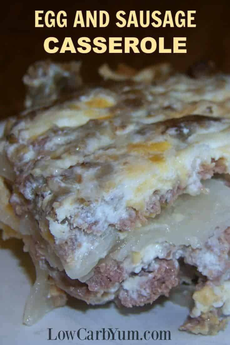 Egg and sausage casserole without bread