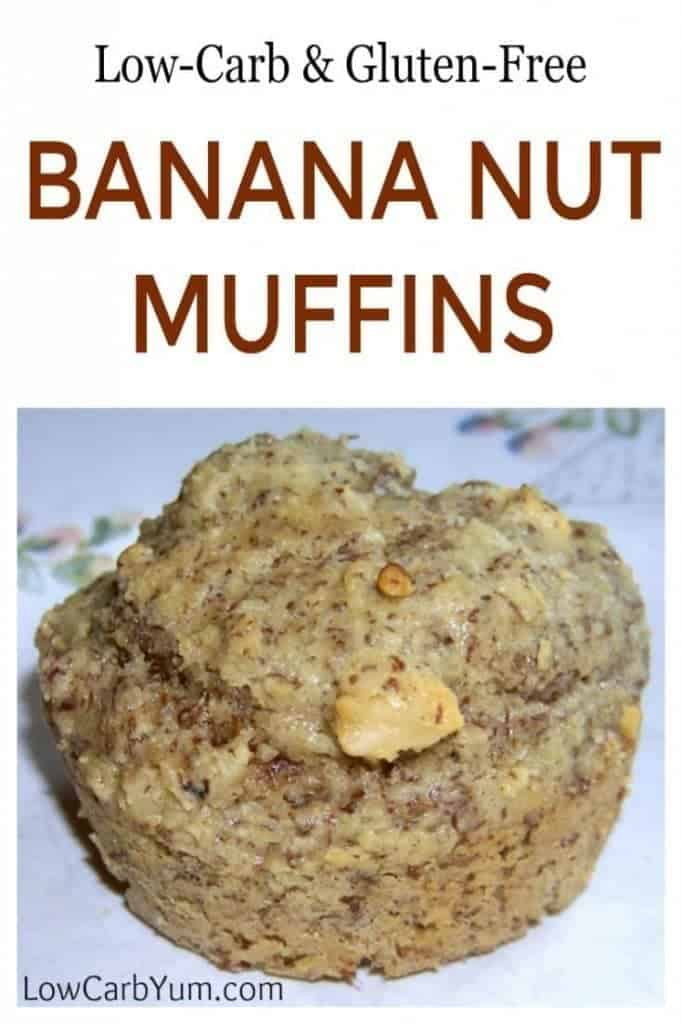 Gluten free low carb banana muffins