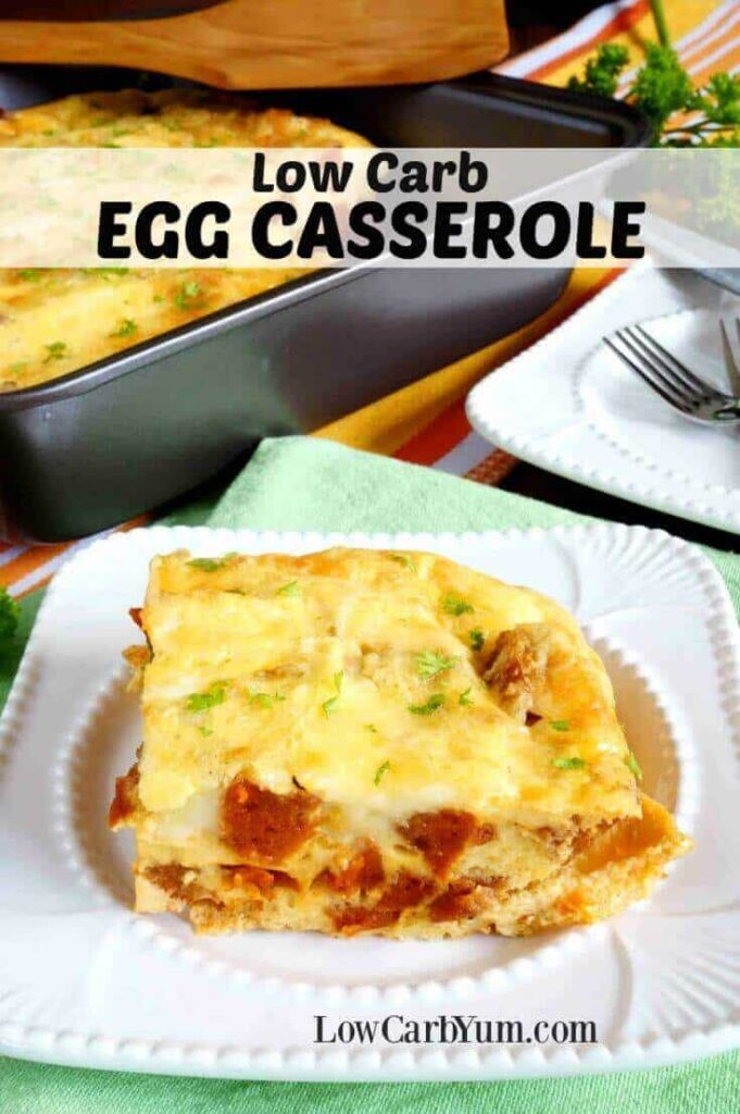 Sausage Egg Casserole Without Bread Low Carb Yum