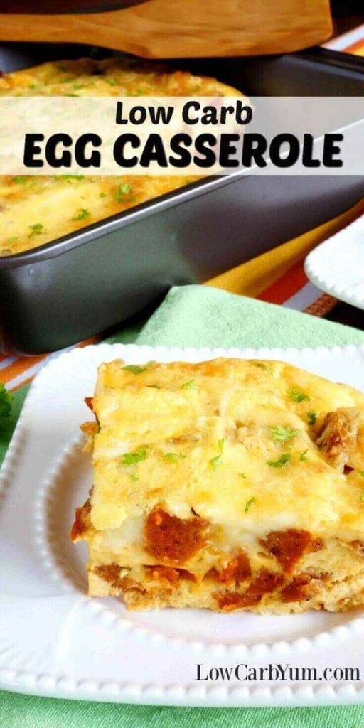 Low carb egg casserole recipe with sausage