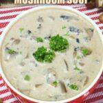Low carb gluten free cream of mushroom soup recipe