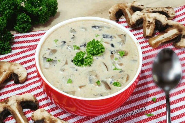 Low carb cream of mushroom soup recipe