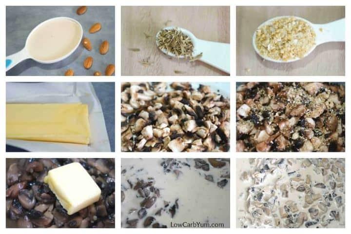 Low carb cream of mushroom soup recipe