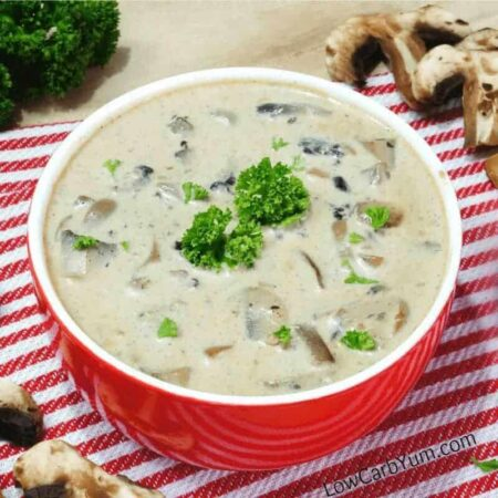 Low carb gluten free cream of mushroom soup recipe