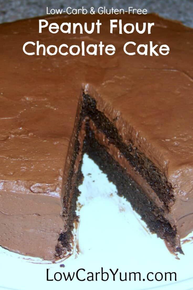 low-carb gluten-free peanut flour chocolate cake