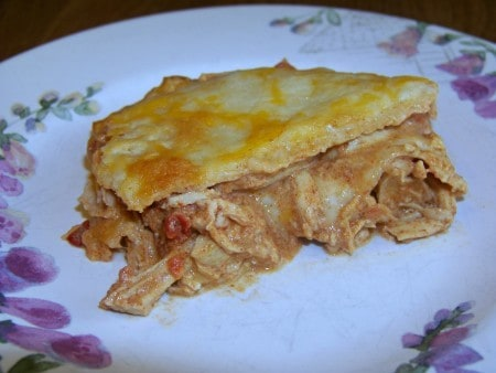 Low carb Mexican lasagna on plate