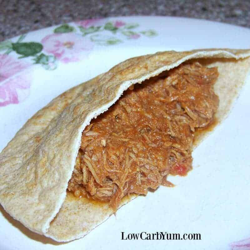 Low Carb Pulled Pork Sandwich – No Sugar Added