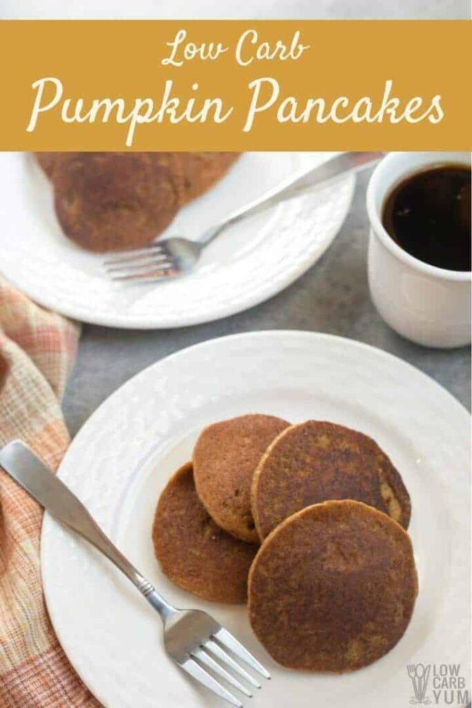 Easy low carb pumpkin pancakes recipe