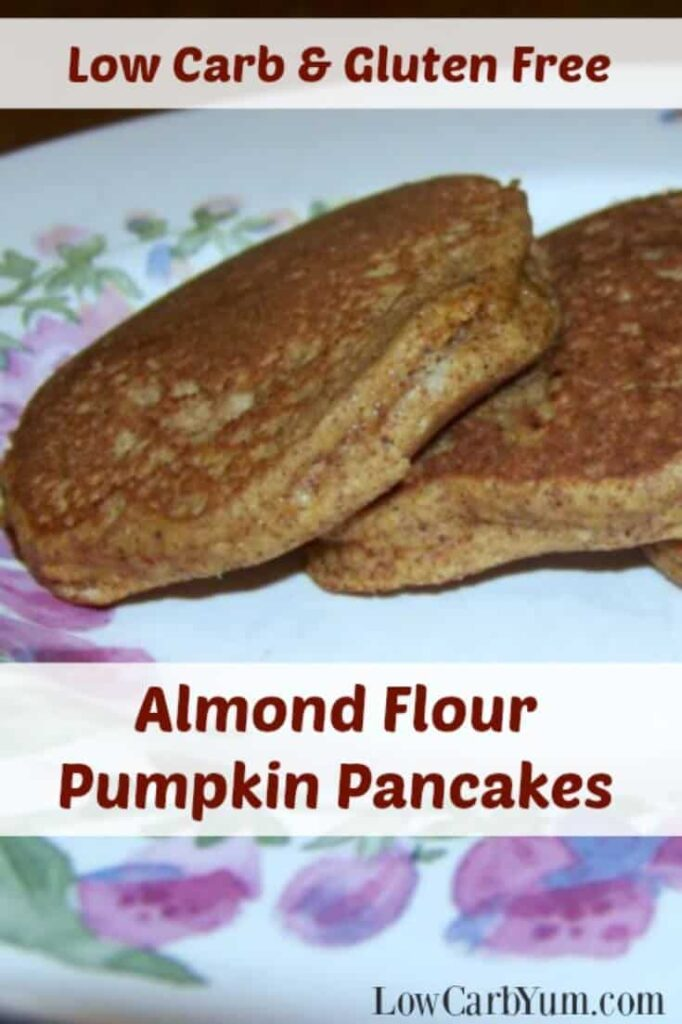 Low carb pumpkin pancakes almond flour