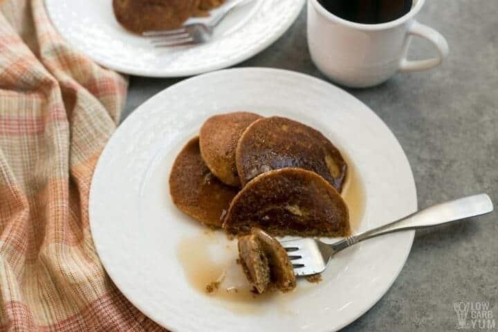 Delicious keto low carb pumpkin pancakes