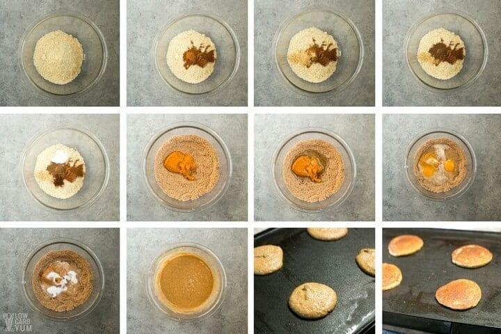 How to make low carb pumpkin pancakes
