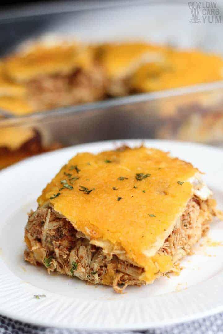 Low carb Mexican chicken lasagna casserole recipe