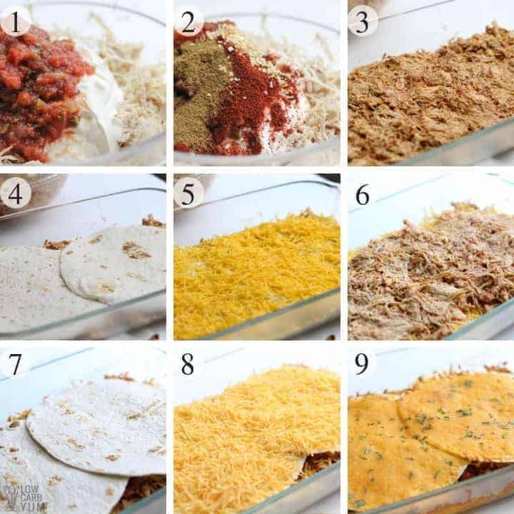 How to make a Mexican chicken lasagna casserole