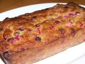 Low Carb Gluten Free Cranberry Bread