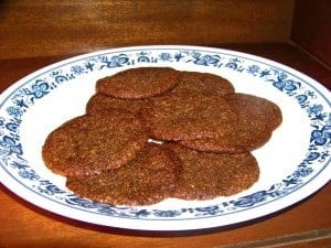 Soft Low Carb Gluten Free Ginger Cookies