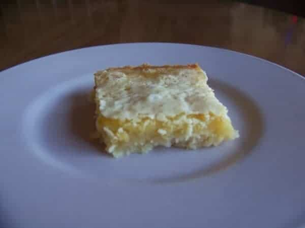 Low Carb Lemon Square