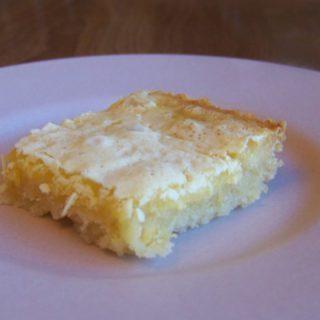 Low Carb Lemon Bars Recipe – Gluten Free Option