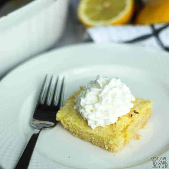 Low Carb Lemon Bars Recipe (Keto, Gluten Free)