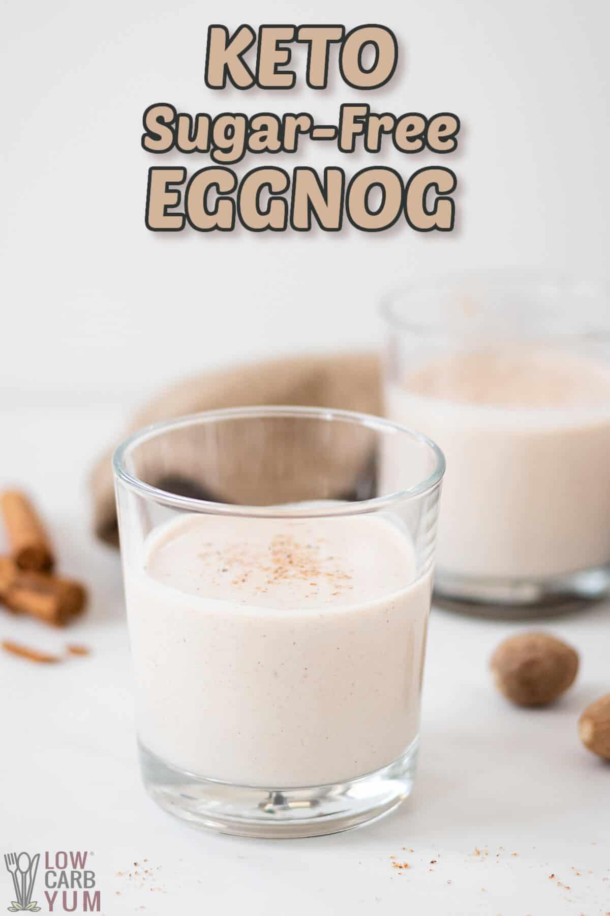 keto sugar free eggnog cover image