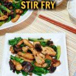 Low carb chicken bok choy stir fry