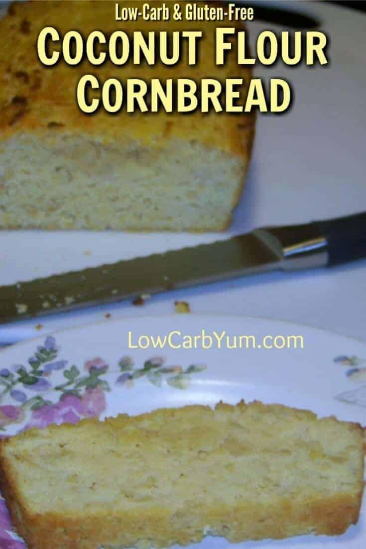 coconut flour cornbread made with baby corn