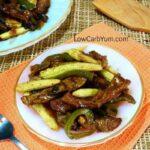 Pepper steak low carb beef stir fry