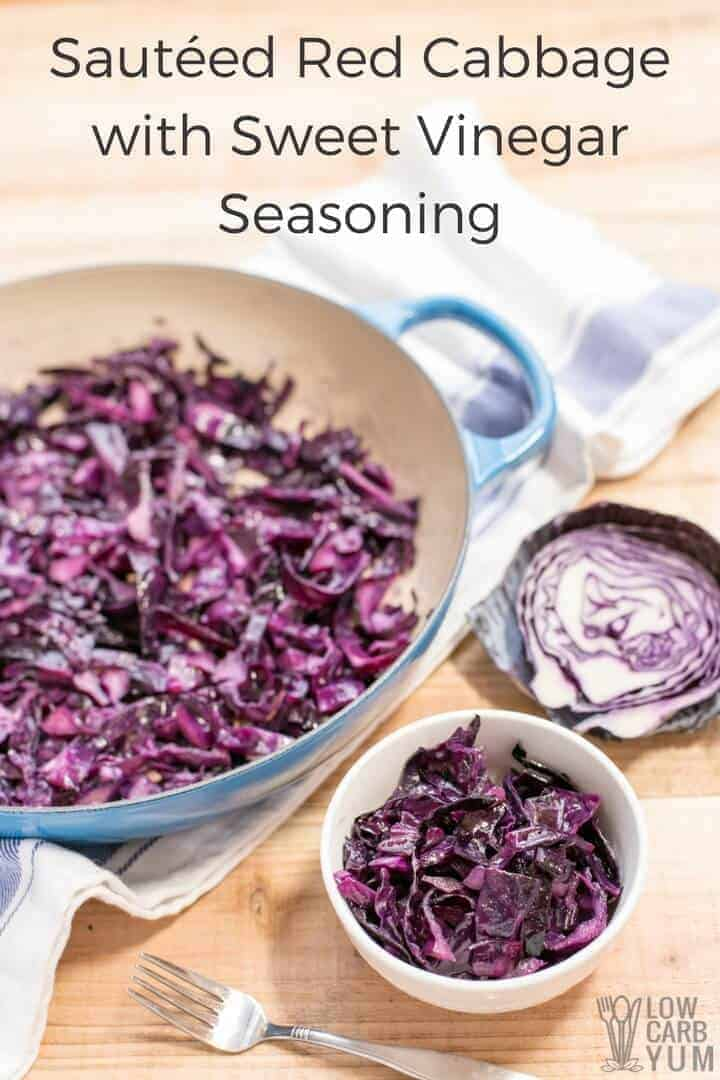 Sautéed red cabbage recipe with sweet vinegar seasoning
