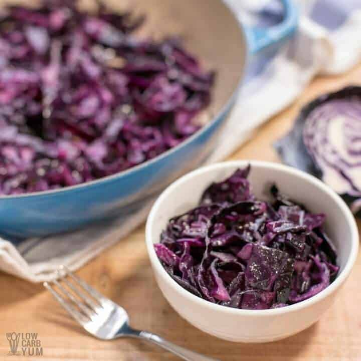 Simple sautéed red cabbage recipe