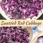 Sautéed red cabbage recipe