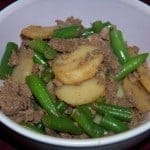 Ground Venison with Green Beans and Water Chestnuts